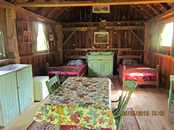 inside view of cabin 1 on guest house property